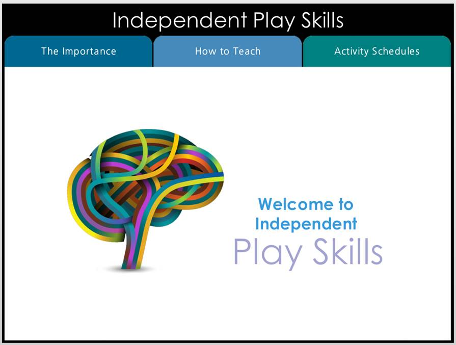 Independent Play Skills