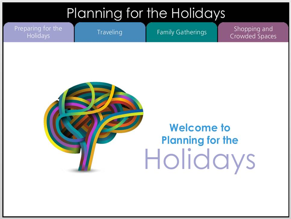 Planning for the Holidays