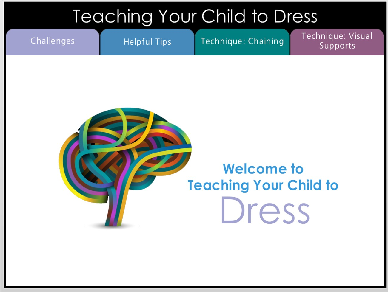 Teaching Your Child to Dress